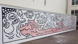 Replica Keith Haring zeecontainer Venduehuis Den Haag