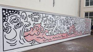 Replica Keith Haring zeecontainer Venduehuis Den Haag